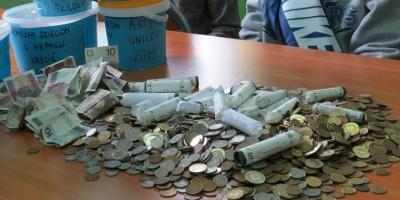 Góra uzbieranych pieniędzy
